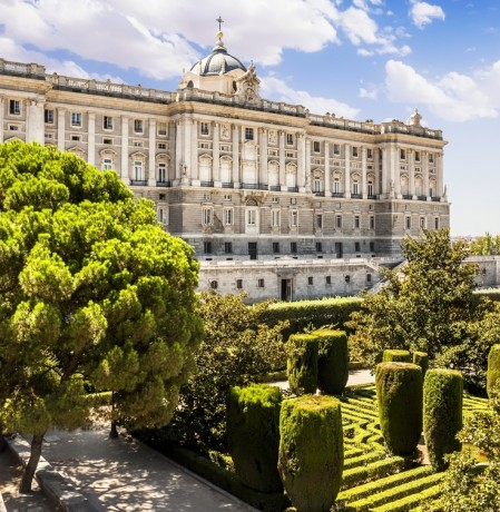 Royal Palace Madrid & Sabatini Gardens
