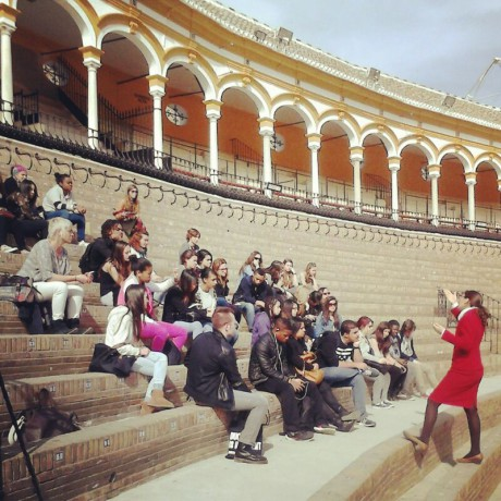 School_trip_to_Seville_guided_tour_of_real_maestranza_bullring